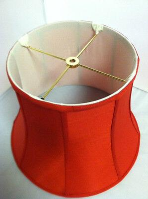 """16""""Red Modify Bell Shape Fabric Shade Spider Fitter NEW"""