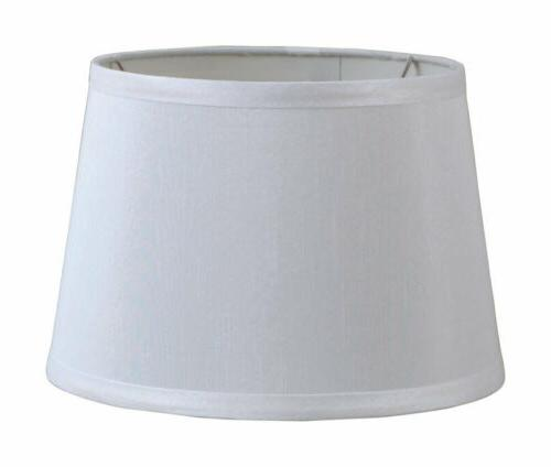 LIVING ACCENTS 19315-000 DRUM LAMP SHADE, WHITE