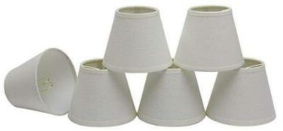 32001 clip on creme chandelier lamp shade