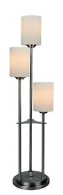 3light Table Lamp in Brushed Nickel Finish