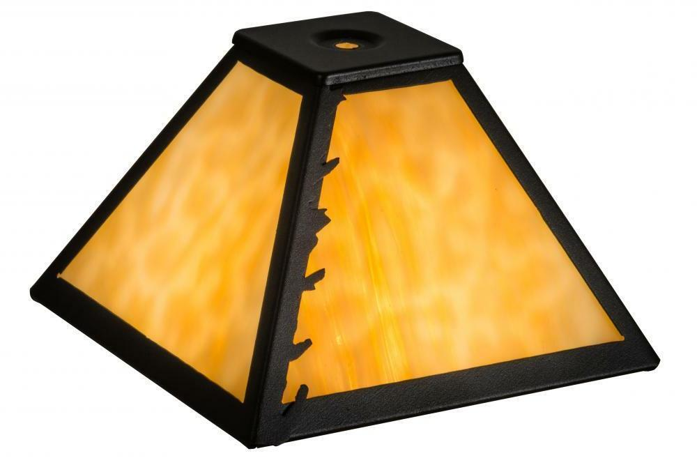 """Meyda Tiffany 8"""" Square Leafs Edge Leaves Replacement Lamp S"""