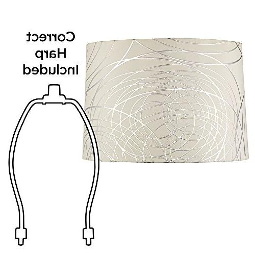 Off-White with Circles Drum Shade 15x16x11