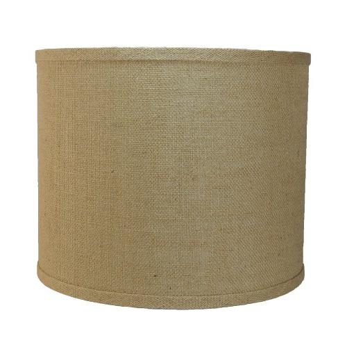 Urbanest Burlap Drum Lamp Shade, 12-inch By 12-inch By 10-in