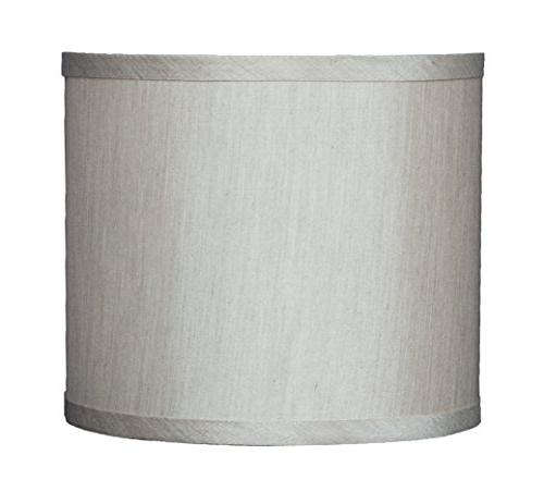 Urbanest Faux Silk Drum Lampshade, 8-inch By 8-inch By 7-inc