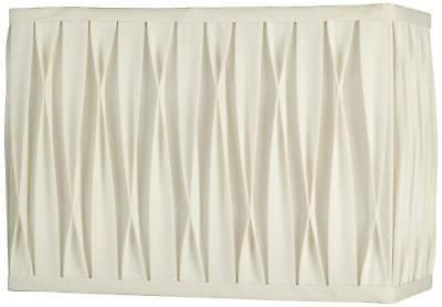White Pinched Pleat Rectangle Shade 14/7x14/7x10