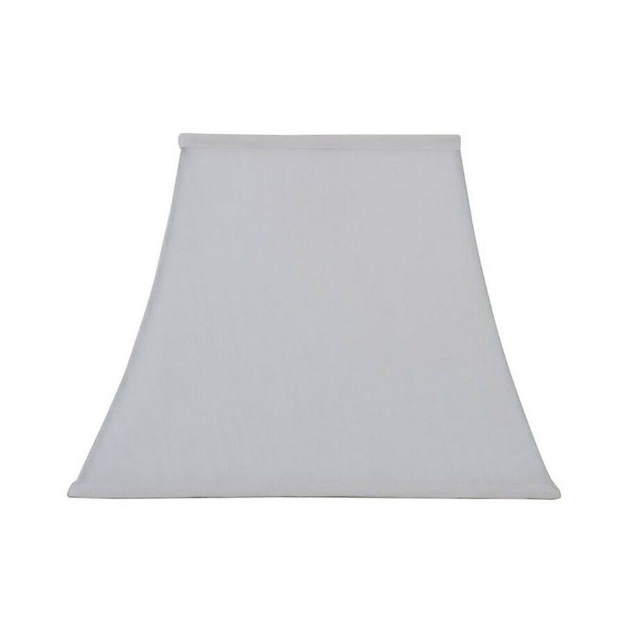 allen + roth 12-in x 15-in White Linen Fabric Square Lamp Sh