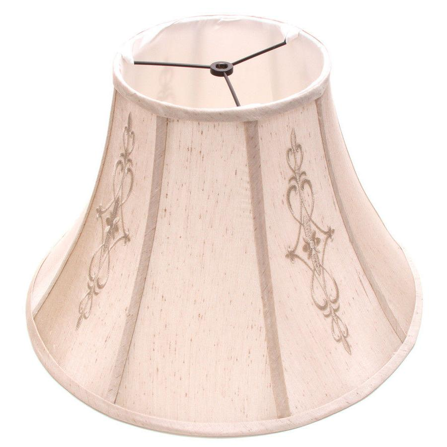 Allen + Roth Beige Fabric Bell Traditional Style Decor Lamp