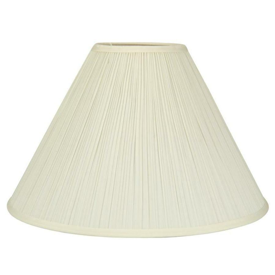 Allen + Roth Standard Extra Large Cream Fabric Bell Lamp Con