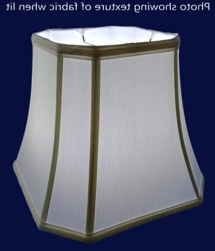 "American 15"" Square Soft Shantung Tailored Lampshade,"