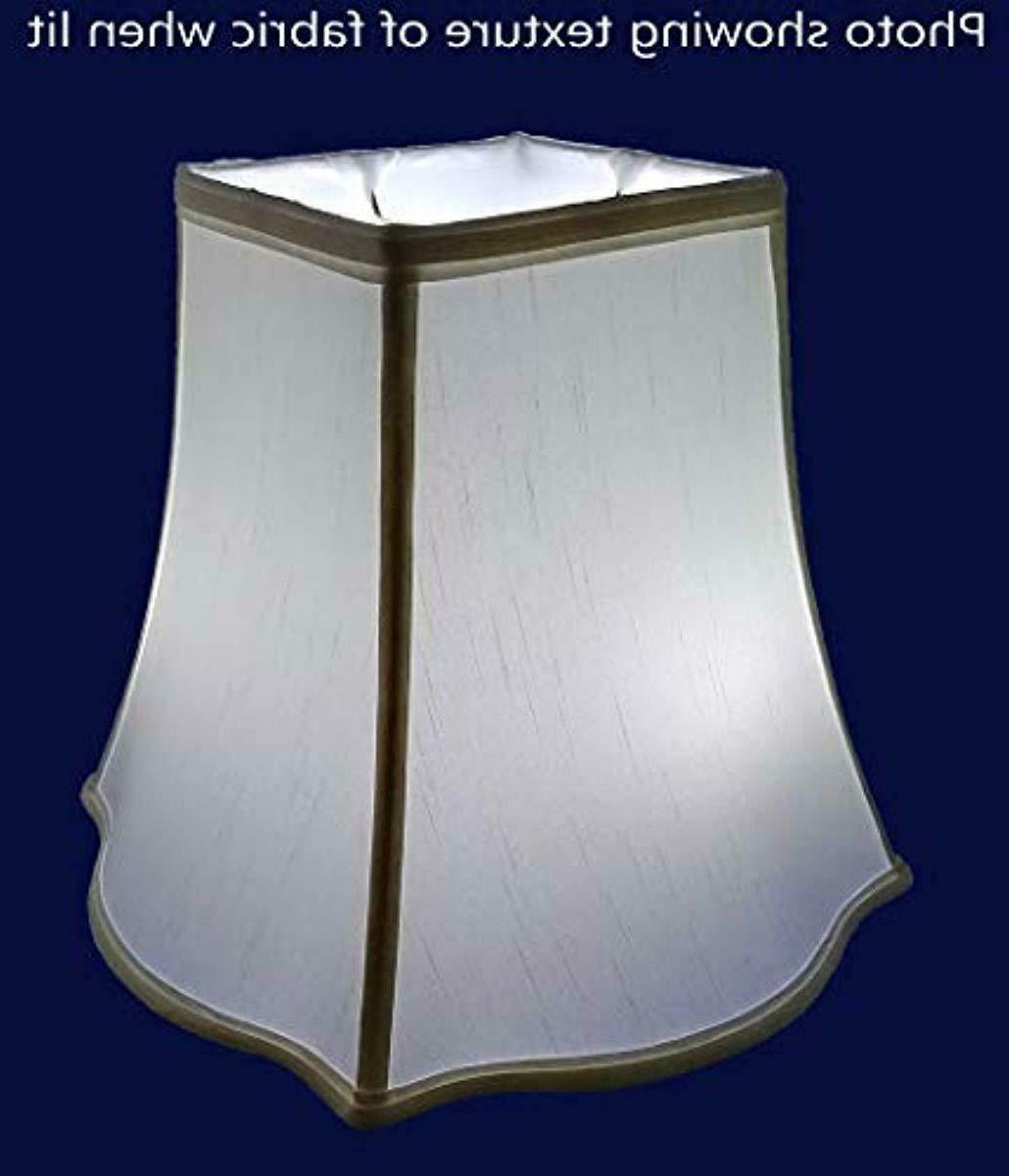 "American 14""x 11"" Soft Tailored Lampshade, Off-white"