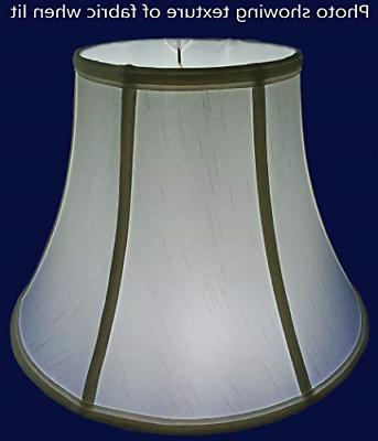 "American Pride 13.5"" Round Tailored Lampshade, White"