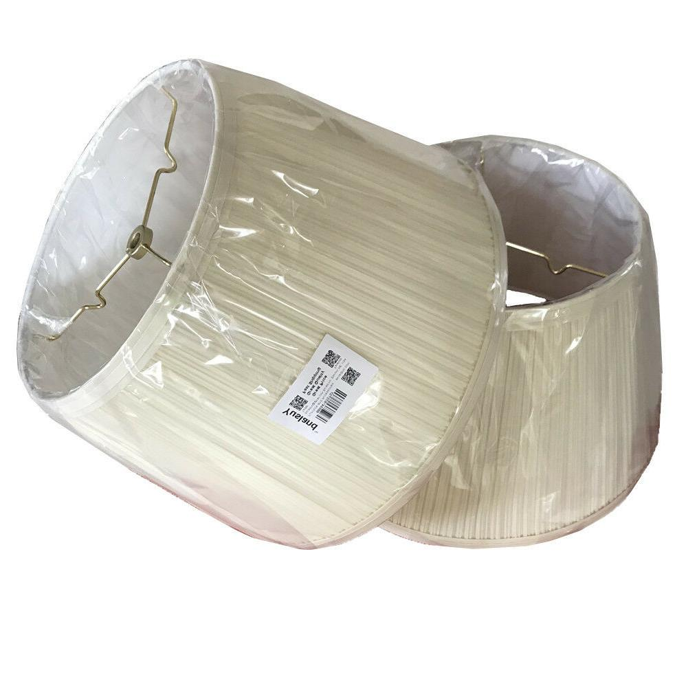 bell lamp shade cream linen mushroom finish
