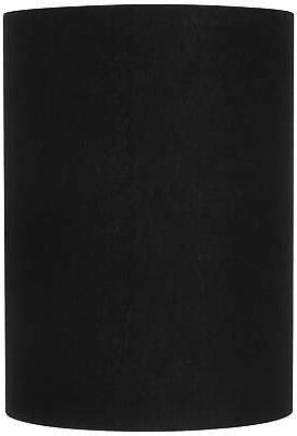 black linen cylinder lamp shade