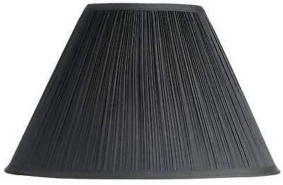 black mushroom pleated lamp shade