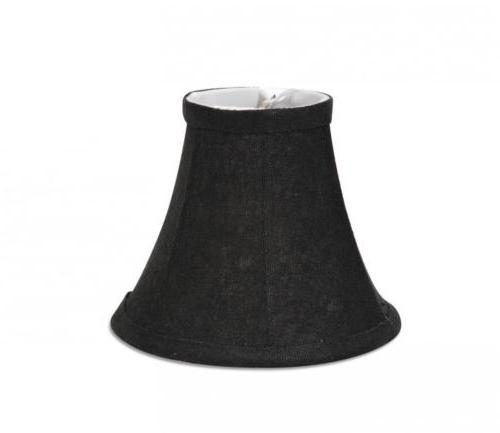 black textured lampshade with gold leaves