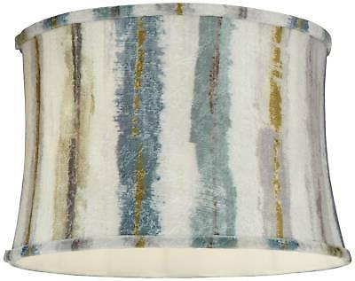 Blue Multi Drum Lamp Shade 15x16x11
