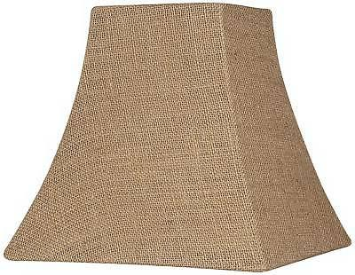 burlap square lamp shade 5