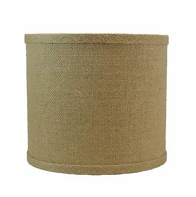 classic drum burlap lamp shade 8x8x7 dusty