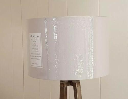 """Contemporary Lamp shade 15"""" x lt gray Home by Marlo Lorenz"""