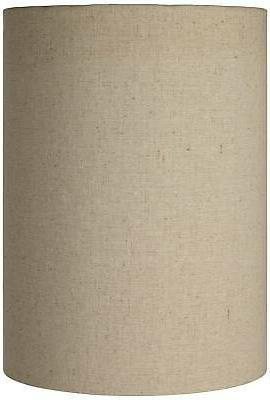 cotton blend tan cylinder shade