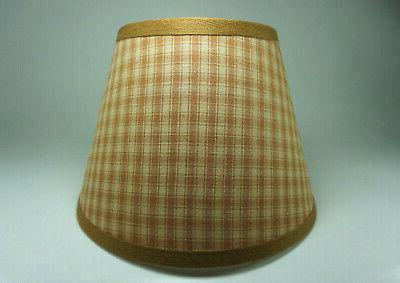 country primitive honey brown plaid homespun fabric