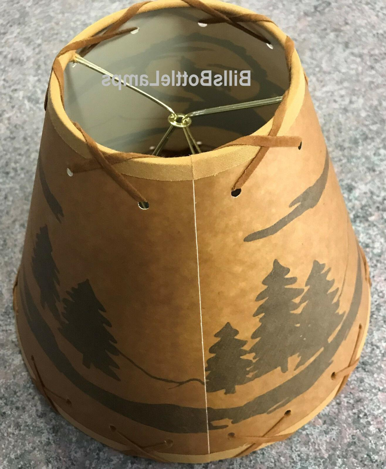 Coyote Dog Cabin LAMP SHADE Clip-On Bulb Style Laced