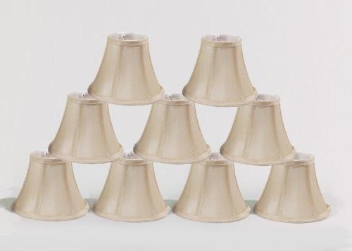 Urbanest Cream Chandelier Mini Lamp Shades Set of 9, Soft Be