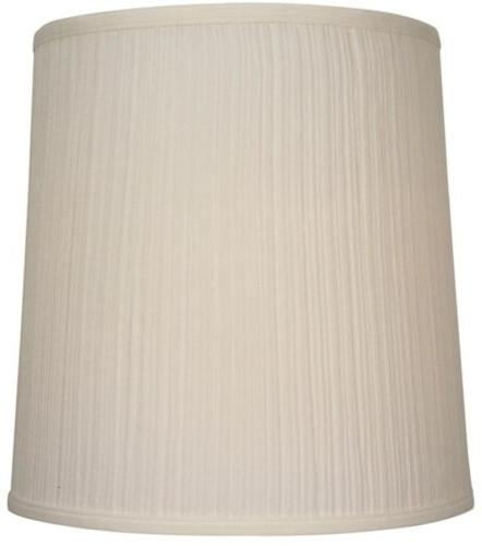 Drum Lamp Shade Beige Fabric Standard Top Ring Spider Fitter