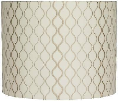 embroidered hourglass lamp shade 14x14x11 spider
