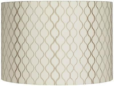 embroidered hourglass lamp shade 16x16x11 spider