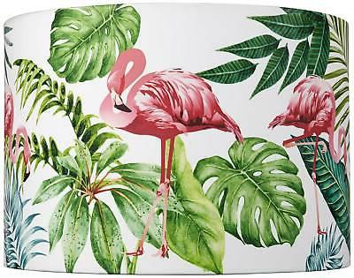 flamingo with palms lamp shade 14x14x10 spider