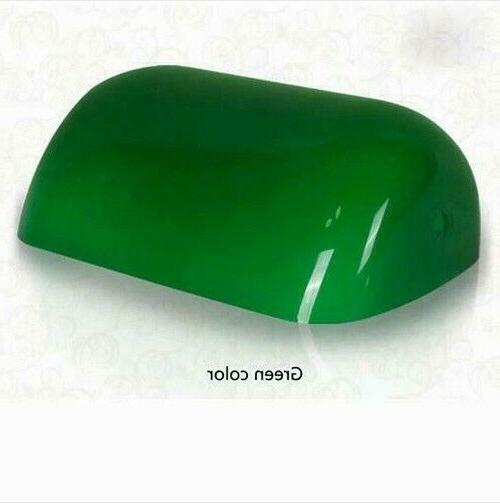 green replacement glass bankers lamp shade cover