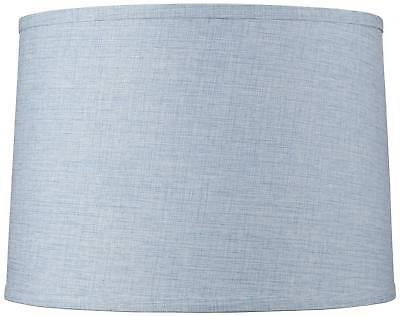 hawking blue round drum lamp shade 13x14x10