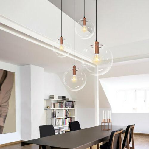 Industrial Pendant Light Fixture Glass Ceiling Lamp