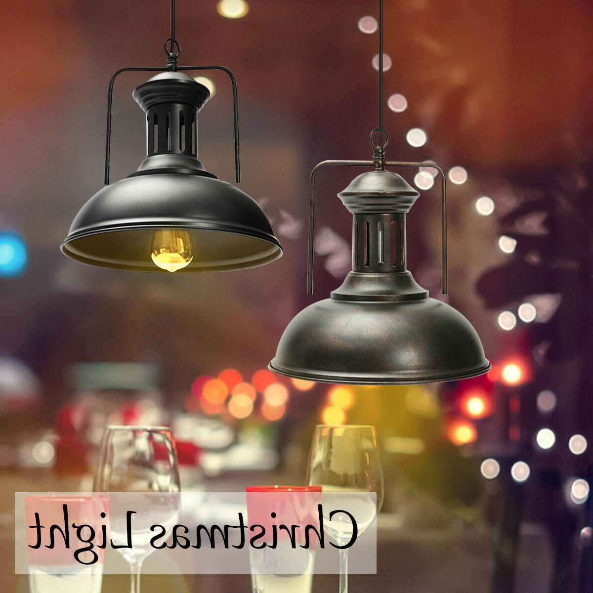 industrial pendant iron ceiling light fixture lamp