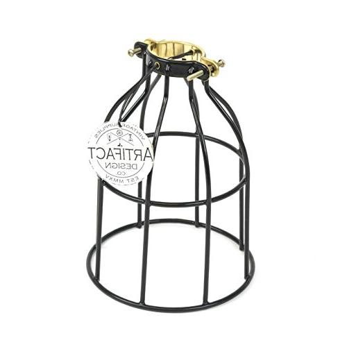 industrial vintage curved light cage