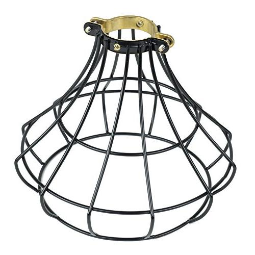 Black Oblong Cut Corner Lamp Shade 7/10x12/16x13x12