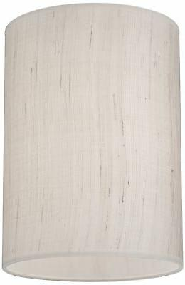 Ivory Linen Cylinder Shade