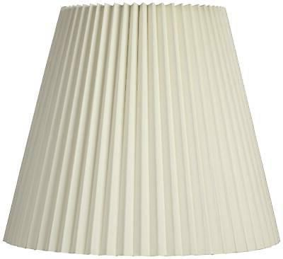 ivory pleated shade