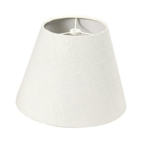 lamp shade linen fabric white