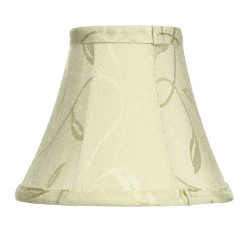 lampshade cream with swirl leaf pattern 5