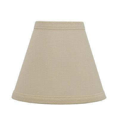linen chandelier lamp shade 6 inch