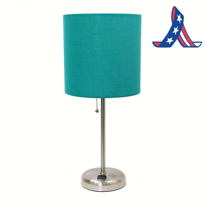 Limelights Lamp With Charging And Fabric Shade,