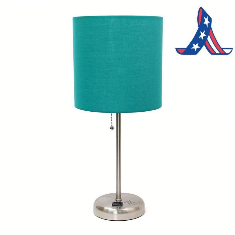 lt2024 tel brushed steel lamp with charging