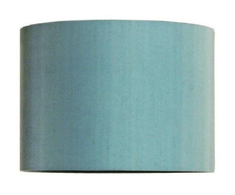 mira shade drum aqua 12x8 linen fabric
