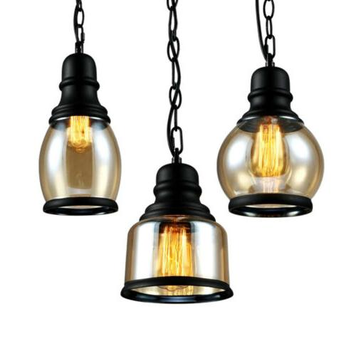 Modern Industrial Glass Lamp Ceiling Hanging