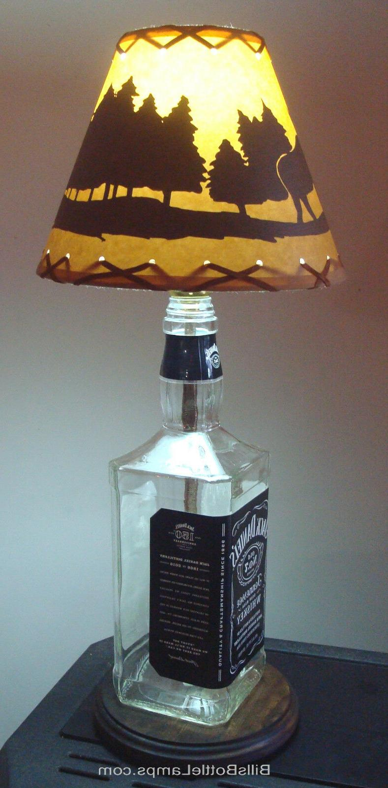 "MOOSE Cabin Table Light SHADE Bulb 9"" Laced"