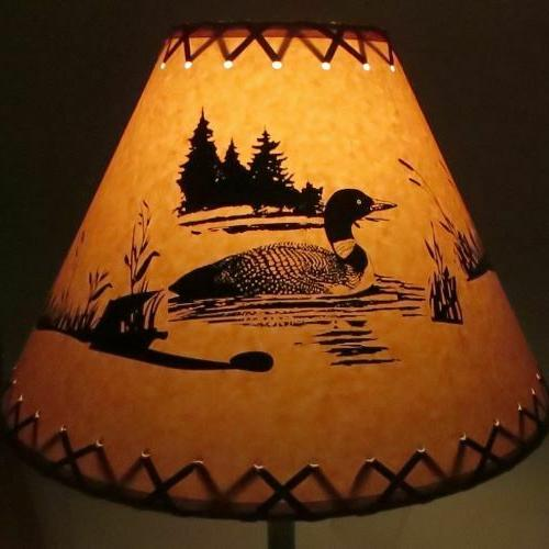 moose cabin cottage table light lamp shade