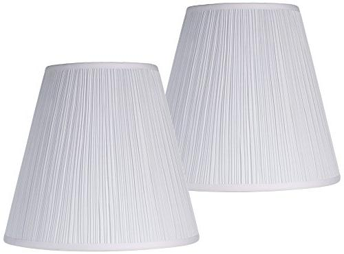 Set of 2 Mushroom Pleated Shades 9x16x14.5