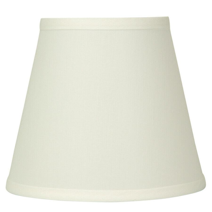 natural fabric bell lamp shade off white